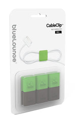 Bluelounge CableClip Small Green/Grey