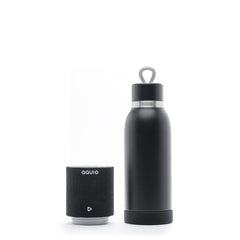 iHome Steel Insulated Bottle with Rechargeable Bluetooth Speaker Midnight