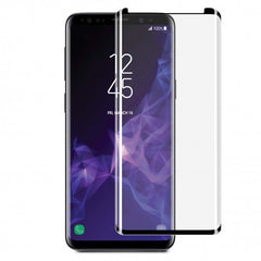 Blu Element 3D Curved Glass Case Friendly Screen Protector Black with Installation Kit for Samsung Galaxy S9