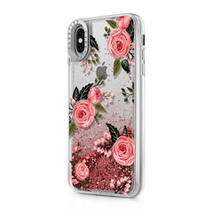 Casetify Glitter Case Pink Roses (Pink) for iPhone XS Max