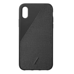 Native Union Clic Canvas Fabric Case Black for iPhone iPhone X/XS