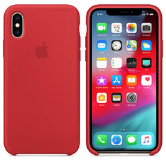 Apple Silicone Case Red for iPhone XS/X