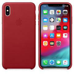 Apple Leather Case Red for iPhone XS Max
