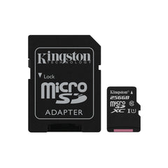 Kingston 256 GB microSDXC Class 10 Flash Memory Card SDCS