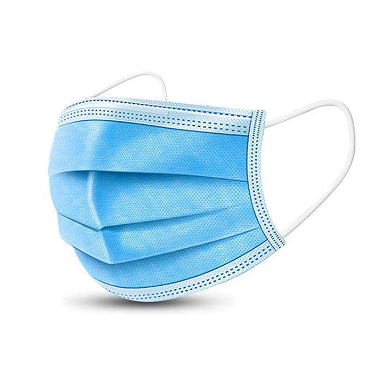 General PPE Disposable Face Mask from MingHai Protect (Box of 50) Blue No Returns