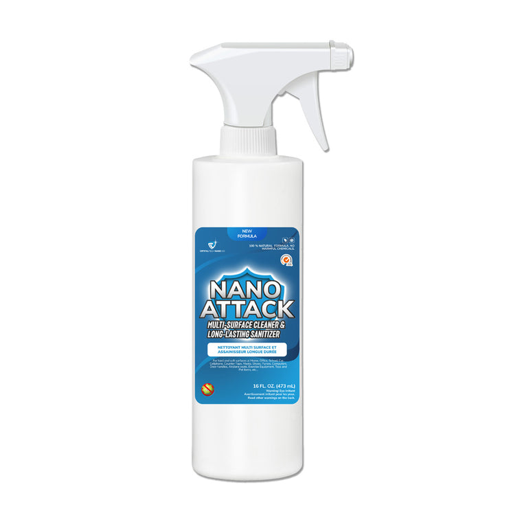 Crystaltech Nano Attack Multi-Surface Cleaner and Long-Lasting Sanitizer 16oz No Returns