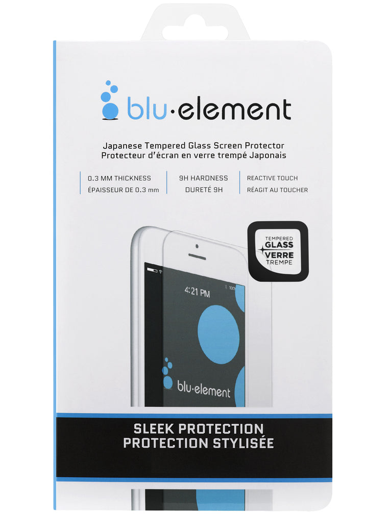Blu Element Tempered Glass Screen Protector for iPhone 8+/7+/6S+/6+