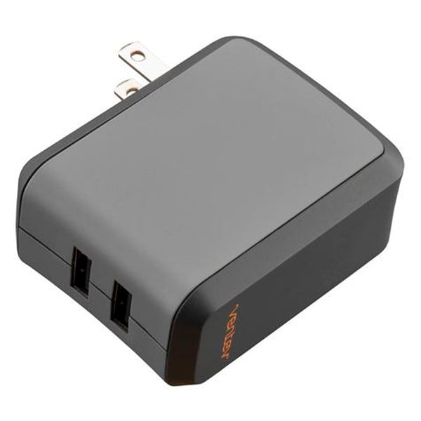 Ventev Wall Charger Dual USB 2.4A with Lightning Cable Grey