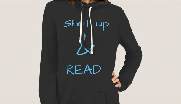 'Shut up and read' Hoodie Dress