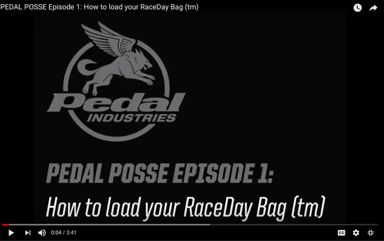 HOW TO LOAD YOUR RACEDAY BAG