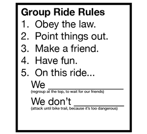 GROUP RIDE RULES
