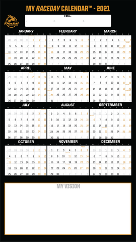 PEDALindustries 2021 MY RACEDAY CALENDAR™ - Black