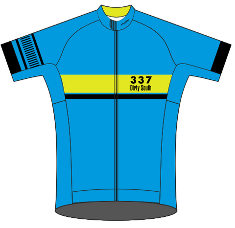 Dirty South Blue '19 RACE JERSEY Short Sleeve - Ships In About 4 weeks