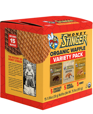 2 (two) HONEY STINGER VARIETY PACKS