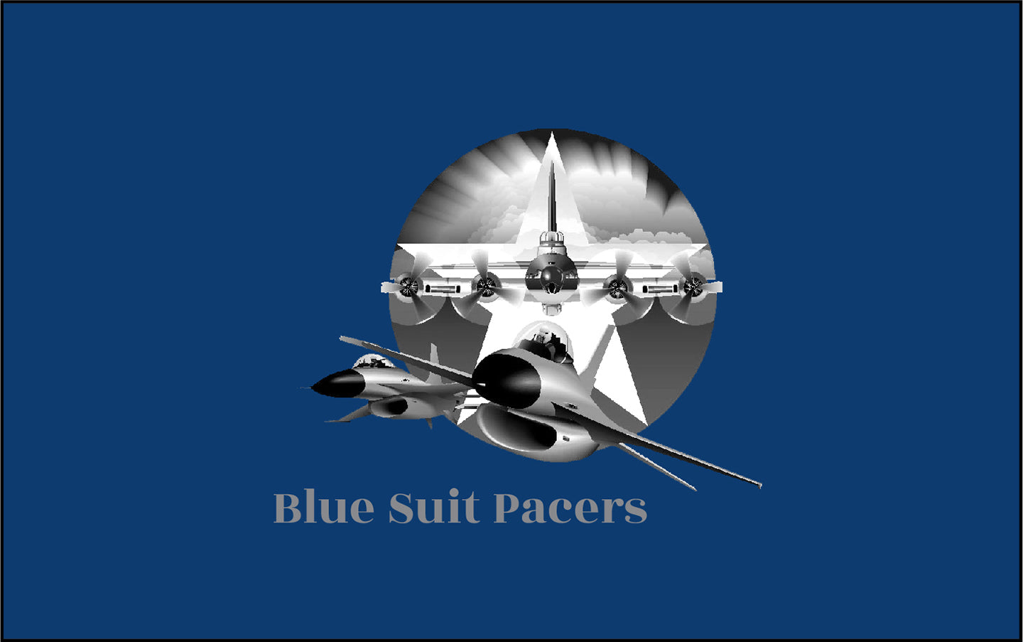 Blue Suit Pacers 06-2019 RACEDAY BAG