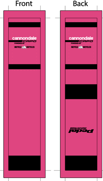 Cannondale '19 Pink SUBLIMATED SOCK - SHIPS IN ABOUT 4 WEEKS