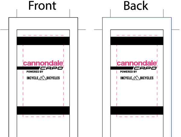 Cannondale '19 White SUBLIMATED SOCK - SHIPS IN ABOUT 4 WEEKS
