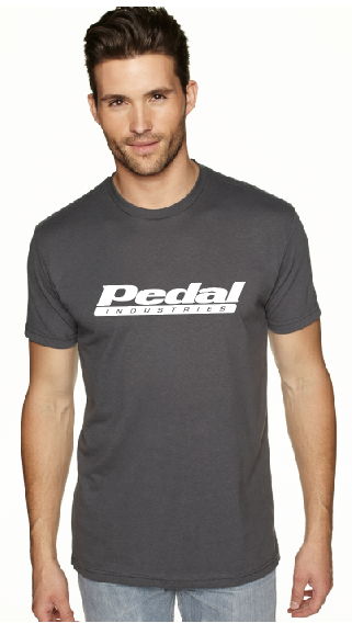 Classic PEDAL T-shirt -  COMES IN BLACK, GRAY, BLUE, RED