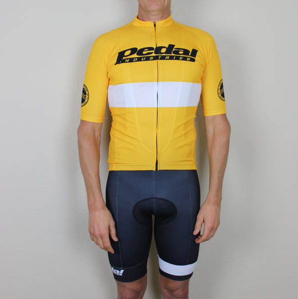 PEDAL industries '19 Team SPEED JERSEY 1/2 SLEEVE - YELLOW
