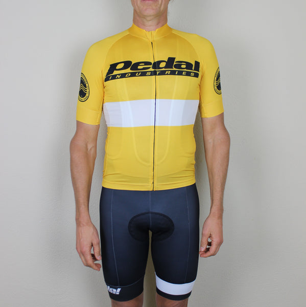 PEDAL industries '19 Team SPEED JERSEY SHORT SLEEVE - YELLOW