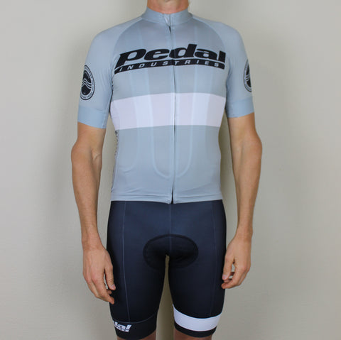 PEDAL industries '19 Team SPEED JERSEY HALF SLEEVE - GRAY