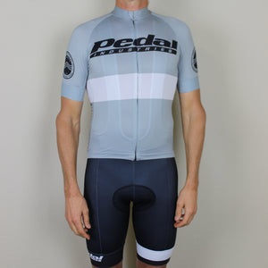PEDAL industries '19 Team SPEED JERSEY SHORT SLEEVE - GRAY