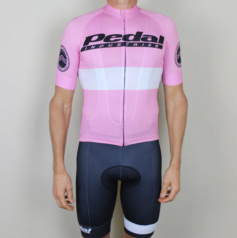 PEDAL industries '19 Team SPEED JERSEY SHORT SLEEVE - PINK