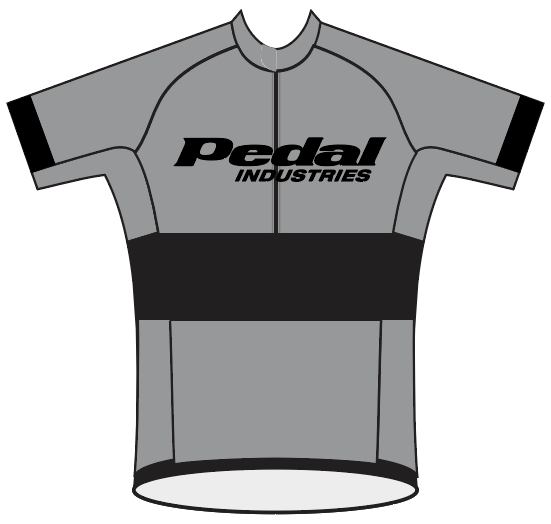 Ladies PEDAL Shop kit SPEED JERSEY SHORT SLEEVE GRAY