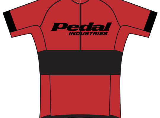 Ladies - PEDAL Shop kit SPEED JERSEY SHORT SLEEVE RED