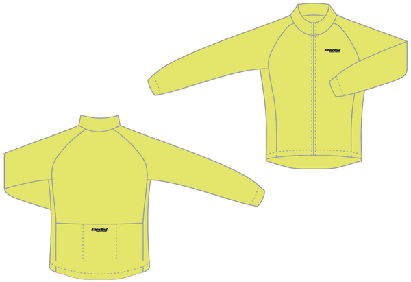 PEDAL industries WIND JACKET - HiViz