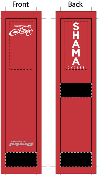 Shama Red SUBLIMATED SOCK - SHIPS IN ABOUT 4 WEEKS