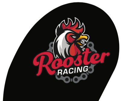 Rooster Racing 11' Tear Drop Flag w/ground stake