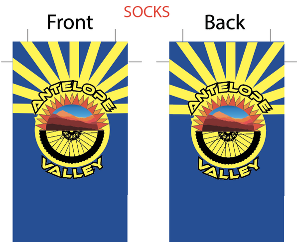 Antelope Valley '19 SUBLIMATED SOCK - SHIPS IN ABOUT 4 WEEKS
