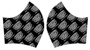 Metz Black/White Fleece Face Masks