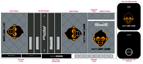 BLACK Salty Chimp  RACEDAY BAG™