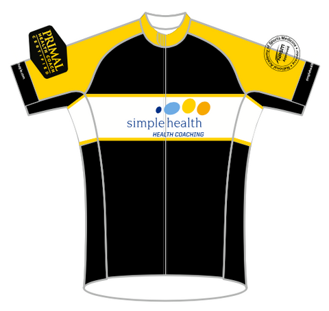 LADIES YELLOW Simple Health SPEED JERSEY SHORT SLEEVE