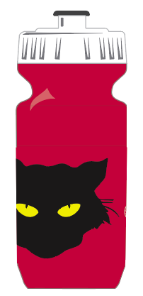 Black Cat Cycling Club WATER BOTTLES