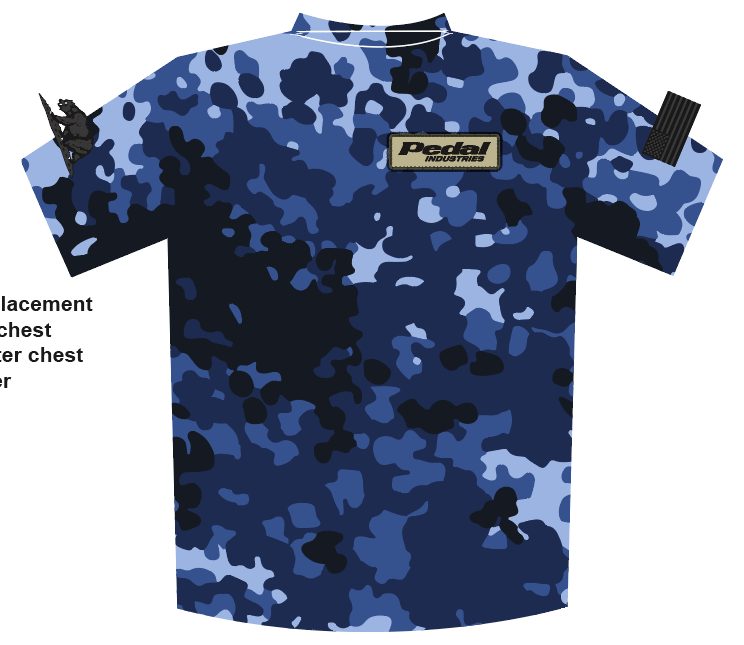 Pro Eco BLUE CAMO SUBLIMATED T-SHIRT (Tech T)