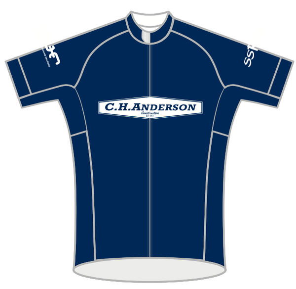 BLUE Anderson Construction SPEED JERSEY SHORT SLEEVE