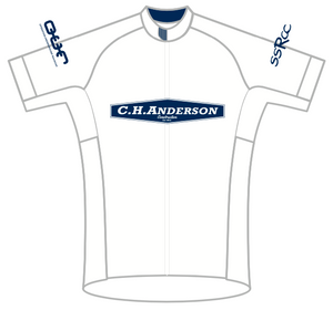 WHITE Anderson Construction SPEED JERSEY SHORT SLEEVE