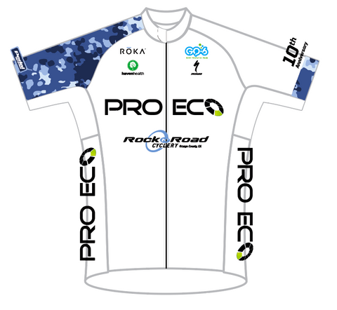 WHITE PRO ECO SPEED JERSEY SHORT SLEEVE MENS AND LADIES
