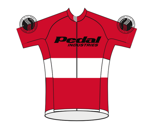 PEDAL industries '19 Team SPEED JERSEY SHORT SLEEVE - RED