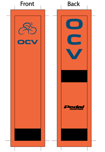 OC Velo 2019 SUBLIMATED SOCK Hi Viz Orange