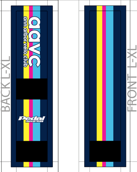 Ann Arbor Velo Club 10-2019 SUBLIMATED SOCK