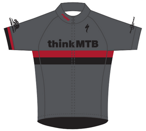 Think MTB 11-2019 CLASSIC RACE JERSEY GREY Short Sleeve