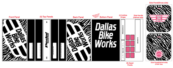 2020-02 Dallas Bike Works ZEBRA  RACEDAY BAG™