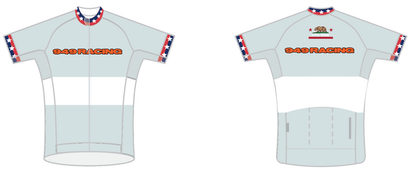 949 Racing SPEED JERSEY SHORT SLEEVE - Ships in about 4 weeks - White Stripe Grey