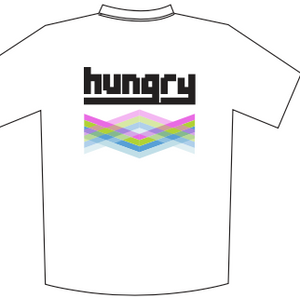 HUNGRY WHITE SUBLIMATED T-SHIRT (Tech T)