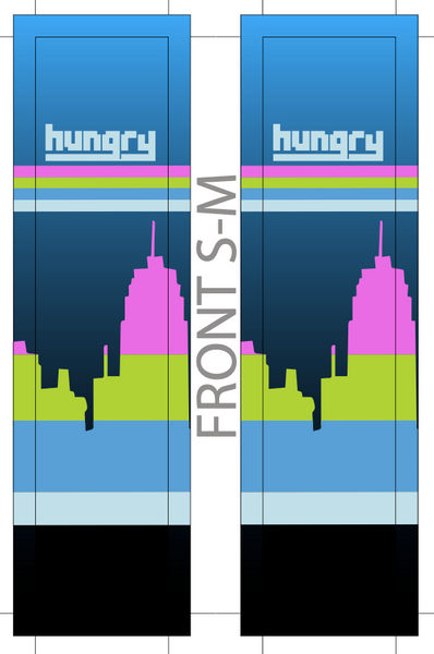 HUNGRY SUBLIMATED SOCK