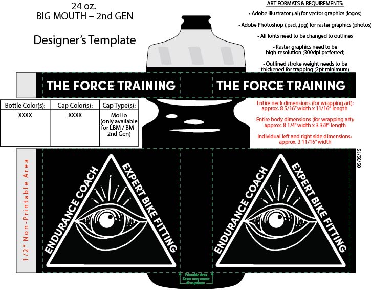 The Force WATER BOTTLES GEN 2 24 OZ - shipping not included